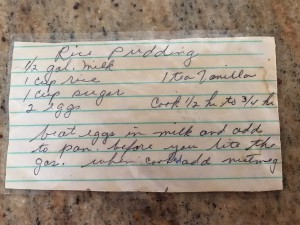 Gma Marie's Rice Pudding Recipe