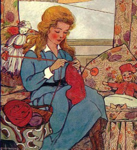 girl-knitting