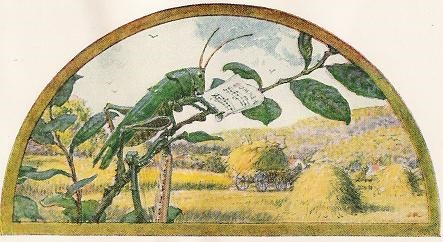 The Grasshopper And The Ant A Jean De La Fontaine Fable In French