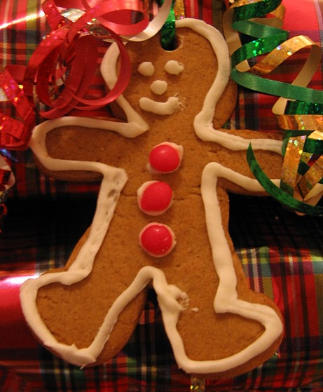 a gingerbread man poem in german with an english
