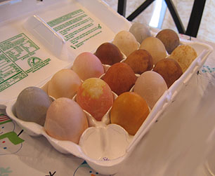 Photo of Eggs Dyed Naturally