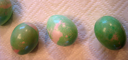 Photo of Green Marbled Eggs