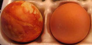 Photo of Eggs Dyed Naturally Orange
