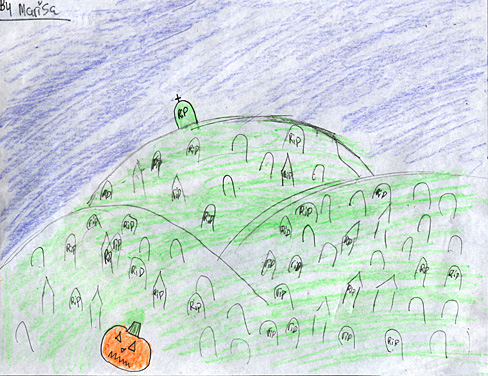 Kids Halloween Art - RIP