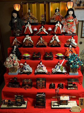 Photo of Hina Dolls on Alter for Hina Matsuri