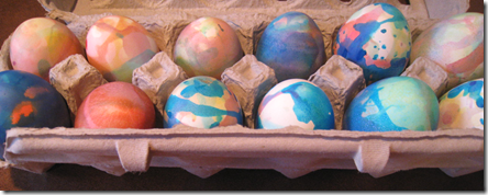 Speckled, Painted and Tie-dyed Eggs