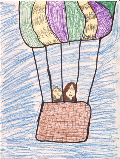 Drawing of Balloon Nursery Rhyme