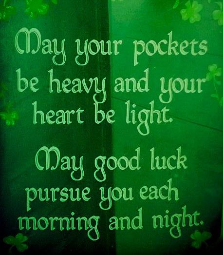 Irish Blessing For Luck