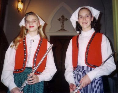 Girl dressed in Kirsten Outfits for Santa Lucia