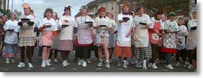 Photo of the Pancake Day Race