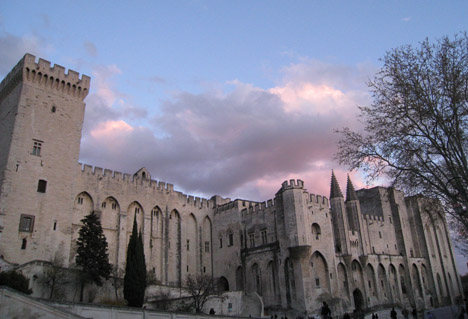 Photo of the Papal Palace in Avignon