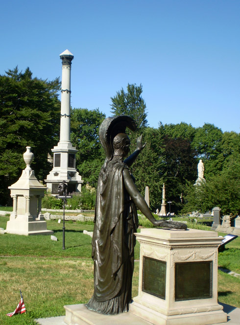 Photo of Statue at Greenwood Cemetary