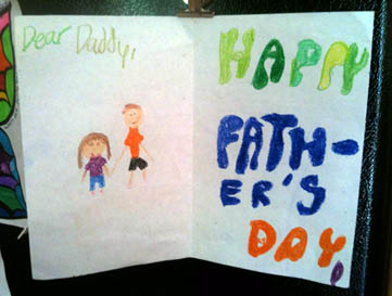 Photo of a Kids Father's Day Card