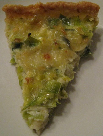 Photo of a piece of Leek Tart