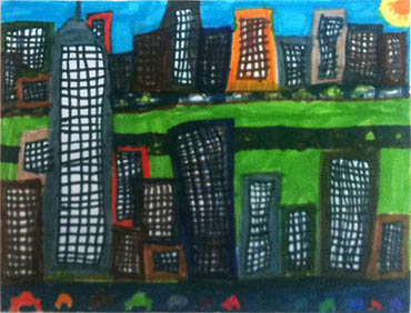 Child's Drawing of New York City