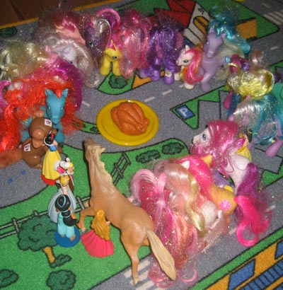 Toy Ponies and Turkey