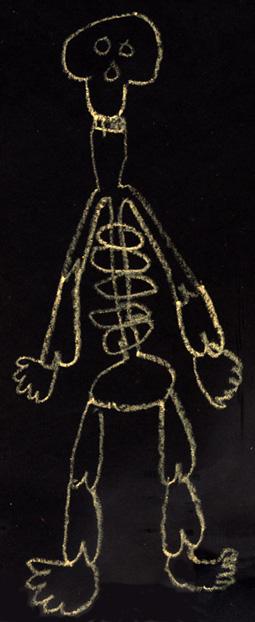 Kids Halloween Art - Skeleton