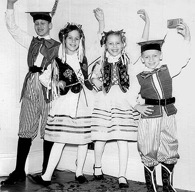Photo of Children Dressed up Like Cracovians