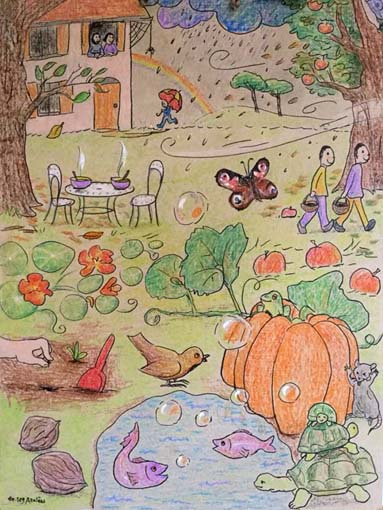 À l'intérieur d'une citrouille - French Children's Songs - France - Mama Lisa's World: Children's Songs and Rhymes from Around the World  - Intro Image