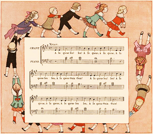 À la queue leu leu - French Children's Songs - France - Mama Lisa's World: Children's Songs and Rhymes from Around the World  - Intro Image