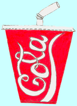Drawing of a Cup of Cola