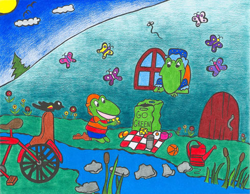 The Frog Song - Canadian Children's Songs - Canada - Mama Lisa's World: Children's Songs and Rhymes from Around the World  - Intro Image