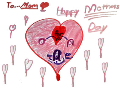 Kids Mothers Day Drawing