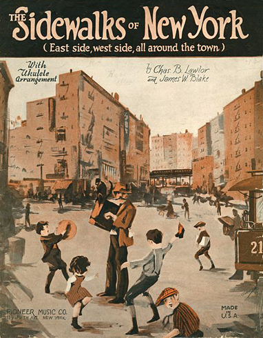 The Sidewalks of New York - American Children's Songs - The USA - Mama Lisa's World: Children's Songs and Rhymes from Around the World  - Intro Image