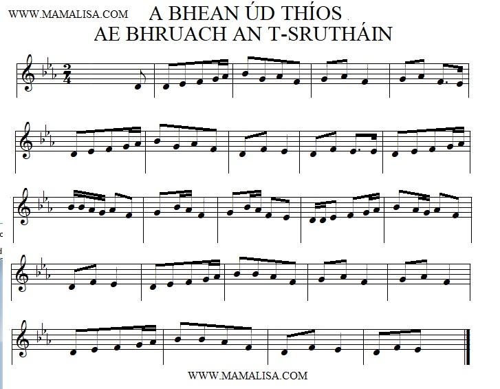 Sheet Music - A Bhean Úd Thíos