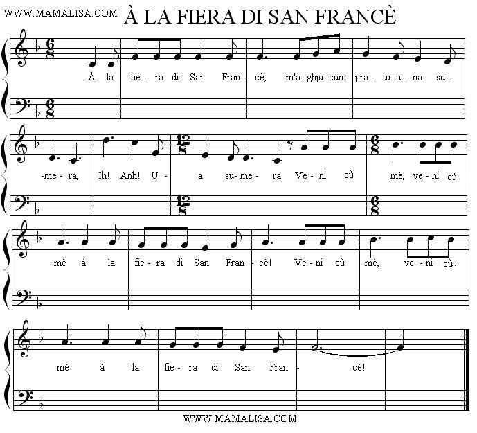 Sheet Music - À la fiera di San Francè