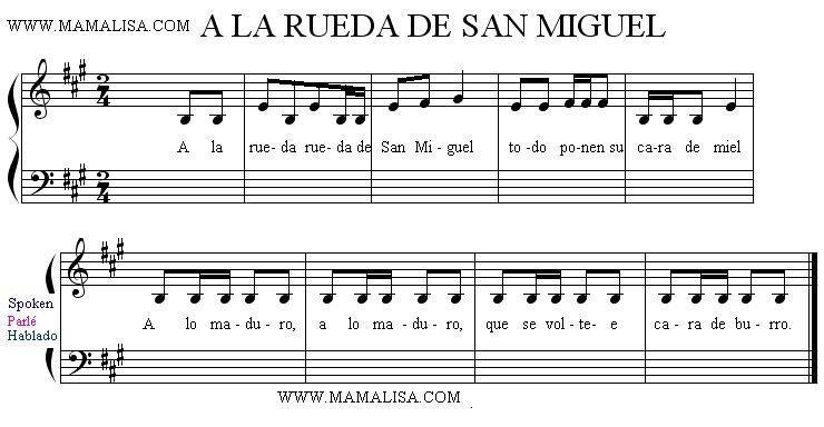 Partitura - A la rueda de San Miguel