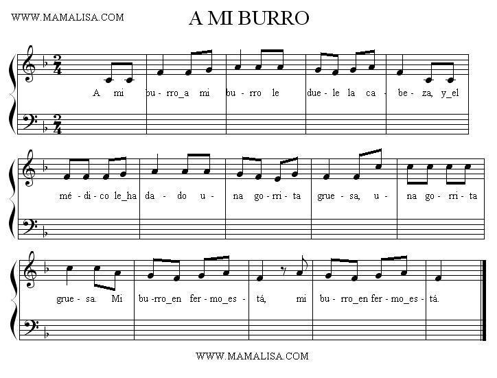 Partition musicale - A mi burro