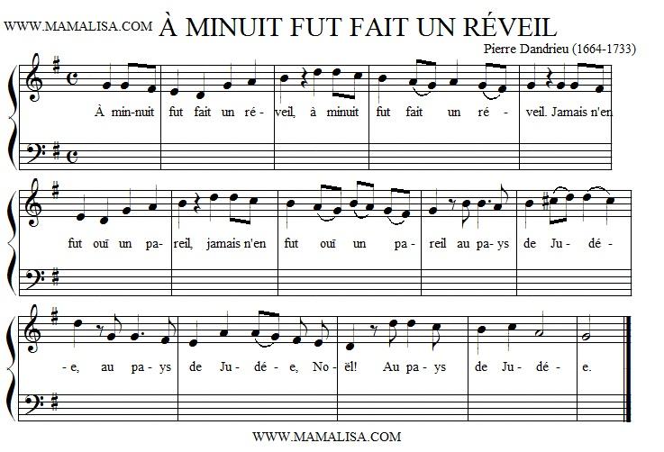 Sheet Music - À minuit fut fait un réveil