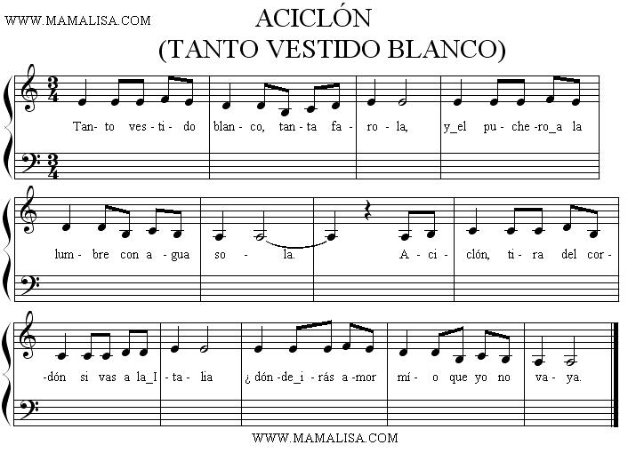Sheet Music - Aciclón
