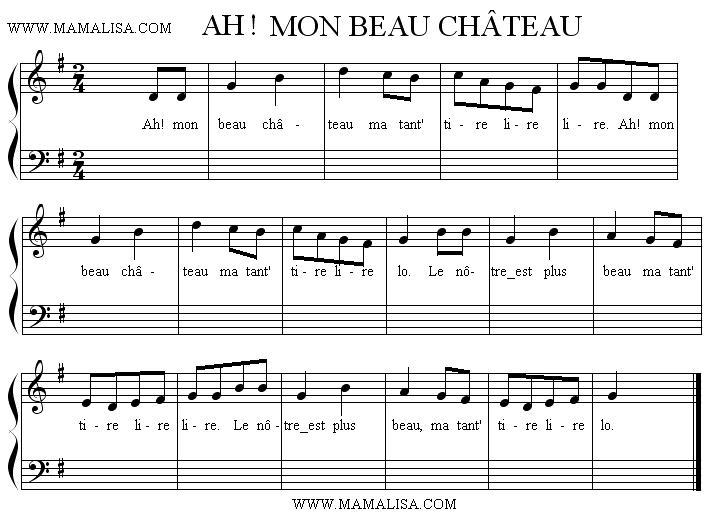 Sheet Music - Ah ! Mon beau château !