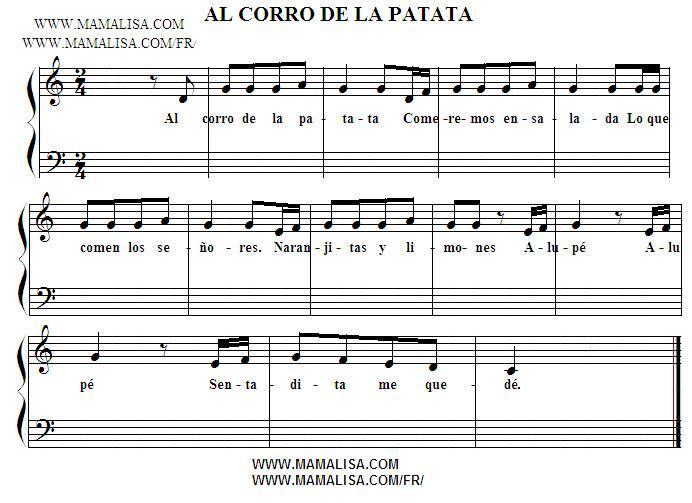 Partition musicale - Al corro de la patata