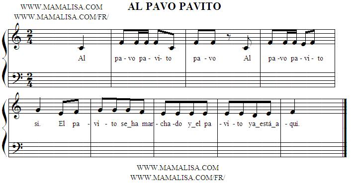 Sheet Music - Al pavo pavito