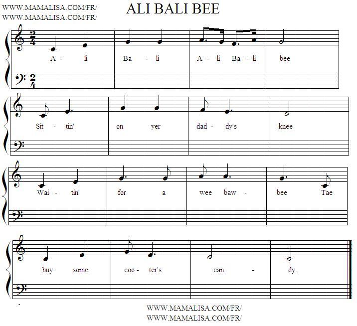 Sheet Music - Ali Bali