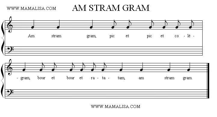 Sheet Music - Am stram gram