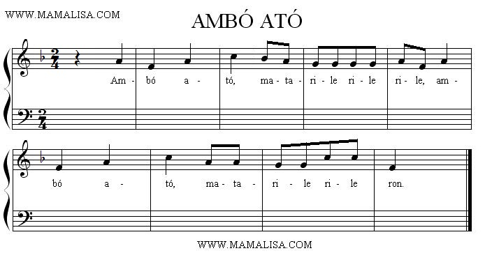 Sheet Music - Ambó ató