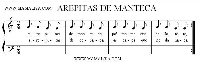 Sheet Music - Arepita de manteca