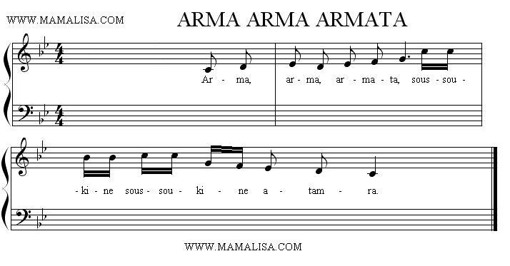 Sheet Music - Arma, arma, armata