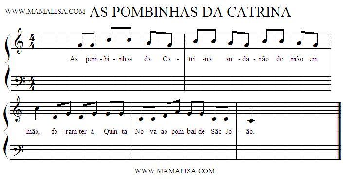Sheet Music - As Pombinhas da Catrina