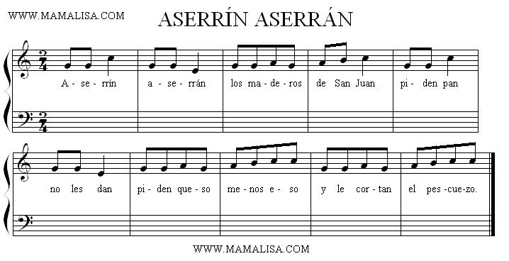 Aserrin Aserrán - YouTube