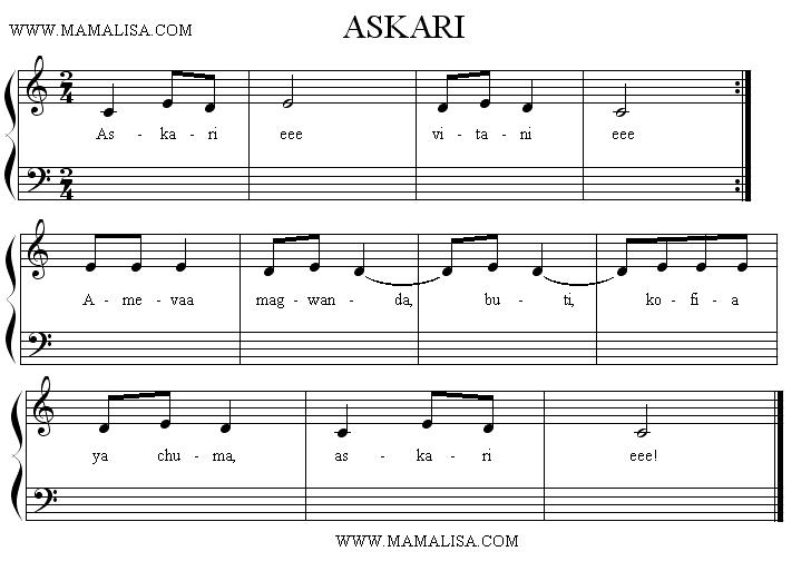 Partition musicale - Askari