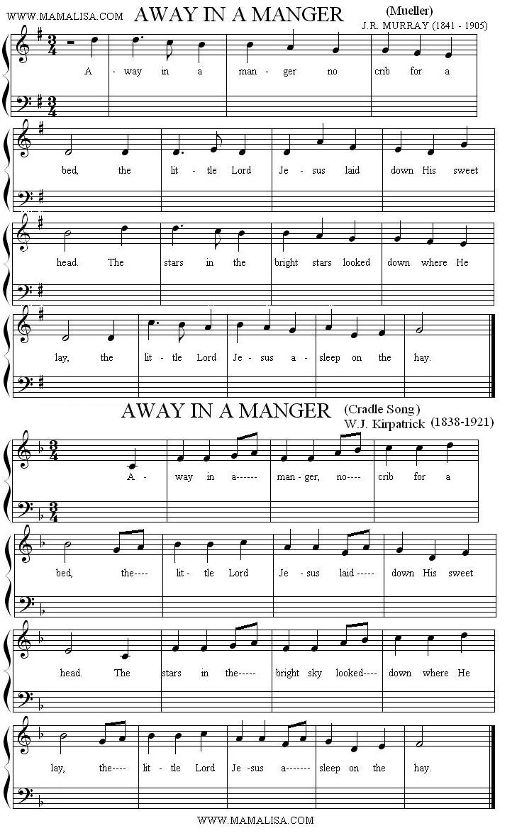 Sheet Music - Away in a Manger