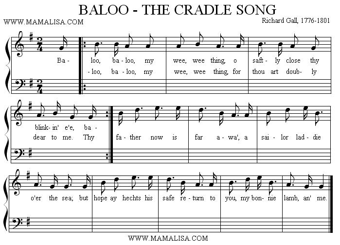 Sheet Music - Baloo, Baloo, My Wee Thing