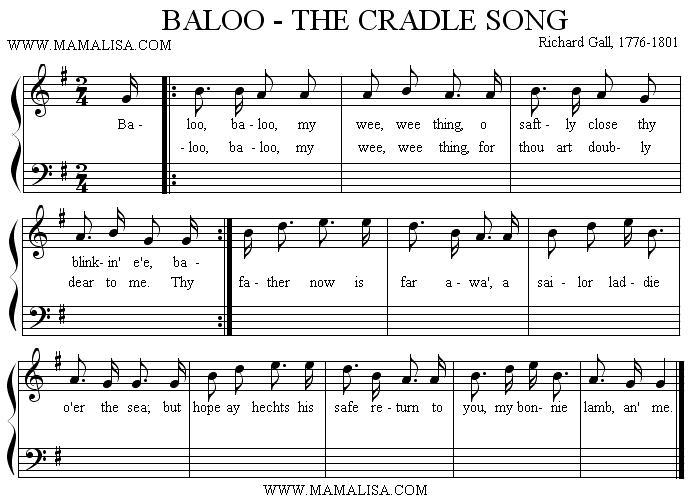 Partitura - Baloo, Baloo, My Wee Thing