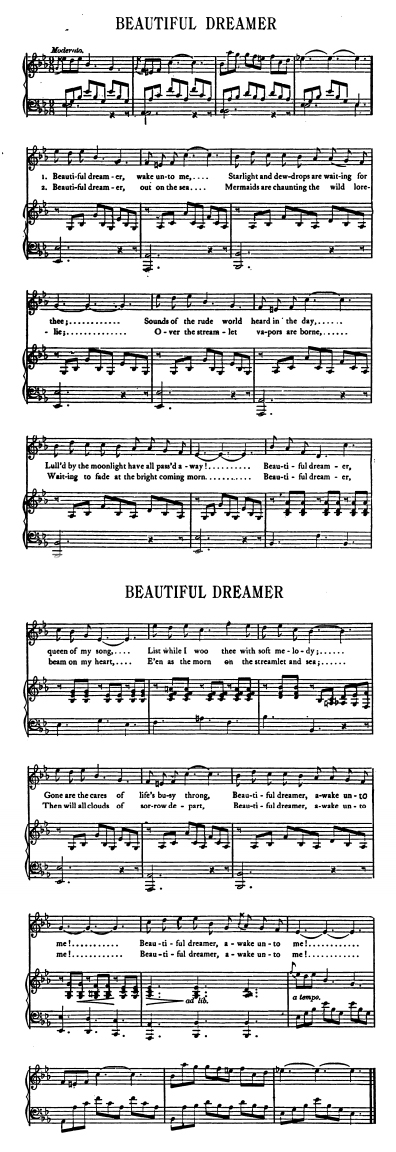 Sheet Music - Beautiful Dreamer