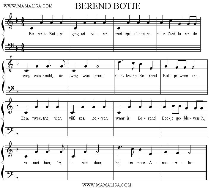 Partition musicale - Berend Botje